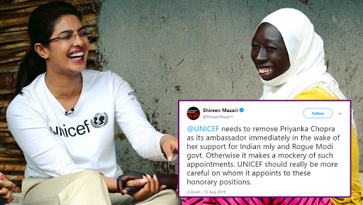 Priyanka Chopra Should Be Removed As UNICEF Goodwill Ambassador for Supporting Indian Military and Modi Govt, Tweets Pak Minister