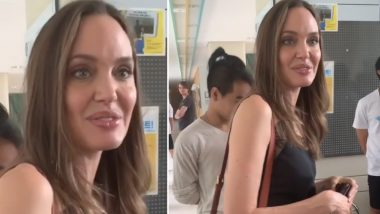 Angelina Jolie Gets Emotional As She Drops-Off Son Maddox at South Korean College, Says 'I'm Trying Not to Cry'