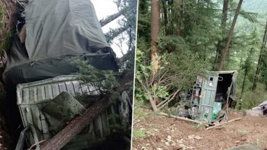 Himachal Pradesh: Vehicle Skids Off Road in Shimla's Theog Area, 1 Army Personnel Dead