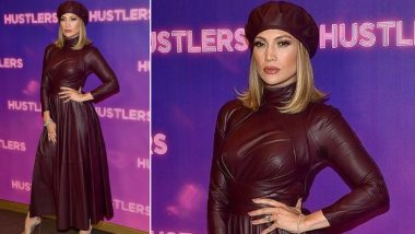 Yo or Hell No! Jennifer Lopez in a Leather Dress by Zimmermann for the Photocall of Hustlers Movie