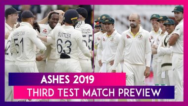 Ashes 2019 3rd Test Match Preview: Steve Smith-Sans Australia Aim to Extend 1-0 Lead Over England