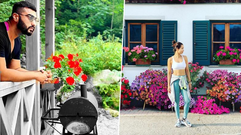 Arjun Kapoor and Malaika Arora Pose in a Flowery Setting On Their Austrian Vacay and We Wish They Were in the Same Frame - See Pics