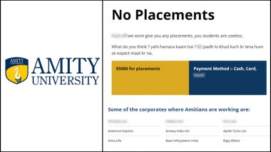 Amity University Website Hacked! Placement Page Asks for $5000 for Jobs at Pornhub.com, Xvideos.com and Porn.com