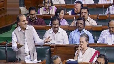 Article 370 Debate: Adhir Ranjan Chowdhury's 'Is Kashmir Internal Matter' Question Stokes Row; Sonia, Rahul Gandhi 'Upset'