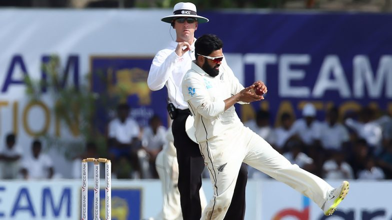 New Zealand Spinner Ajaz Patel Fifers Rattle up Sri Lankan Batting Line Up During SL vs NZ 1st Test Match, 2019