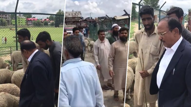 Ajit Doval Interacts With Kashmiris in Anantnag, Visits Sheep Market Ahead of Eid al-Adha 2019, Watch Video