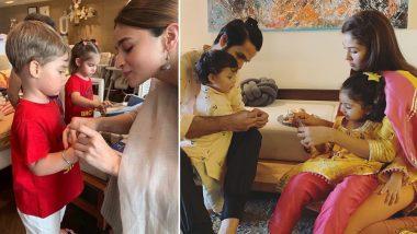 Alia Bhatt Ties Rakhi to Karan Johar's Son Yash While Shahid Kapoor's Kids Misha-Zain Celebrate Raksha Bandhan Looking Extra Cute! (View Pics)