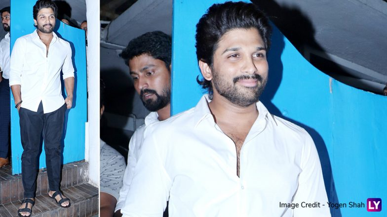 Allu Arjun Attends Emmay Entertainment Celebrations, and His Mumbai Fans Get Overwhelmed Seeing the Tollywood Star (Watch Video)