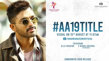 #AA19Title Visual on August 15! Title of Allu Arjun's Film to Be Announced on Independence Day 2019