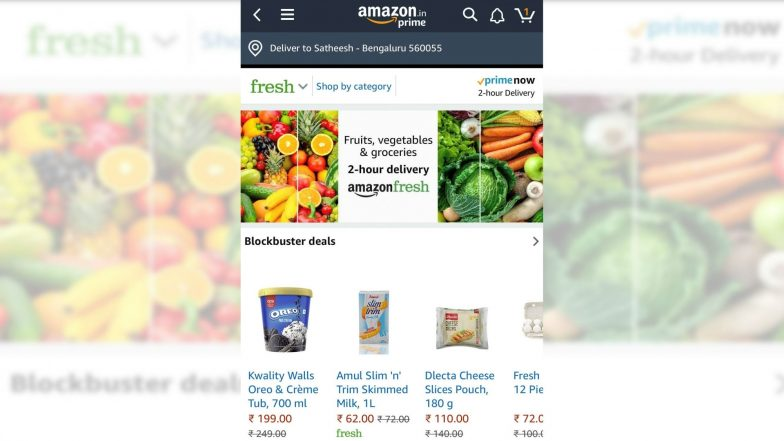 'Amazon Fresh' Launched with 2 Hour Delivery Service