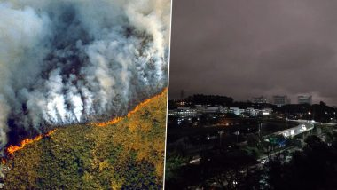 Amazon Rainforest Fires: Brazil's Largest City of Sau Paulo Turns Dark During Daytime Due to Smoke, Check Scary Pics and Video