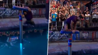 Gymnast Danell Leyva Performs One of the Best Saves in History of 'American Ninja Warrior', Wins Hearts on Social Media; Watch Viral Video