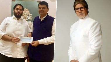 Maharashtra CM Devendra Fadnavis Thanks Reliance and Amitabh Bachchan for Their Contributions to Relief Fund