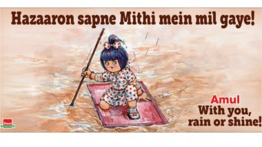 Mumbai Rains: Amul's New Topical Is a Reminder of the Looming Danger of Overflowing Mithi River (View Pic)