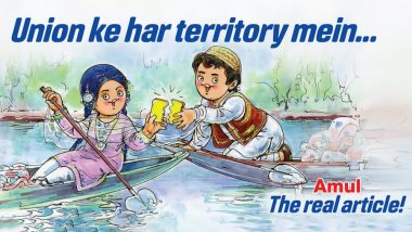 Amul Dedicates Topical Ad to Scrapping of Article 370 and Jammu and Kashmir Bifurcation