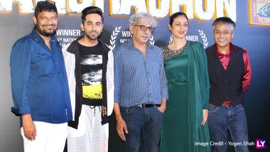Adhadhun Success Party Pics: Ayushmann Khurrana, Tabu, Sriram Raghavan Celebrate Film's Nation Award Win Sans Radhika Apte