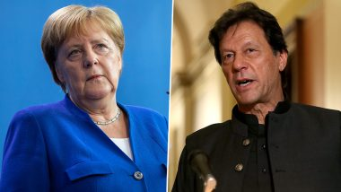 Pakistan PM Imran Khan Discusses Jammu and Kashmir Issue with German Chancellor Angela Merkel