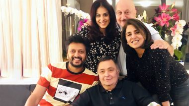 Rishi Kapoor Thanks Riteish Deshmukh and His Wife Genelia and Anupam Kher for Spending Time with Him in New York