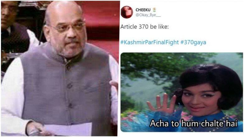 Article 370 Revoked in Jammu and Kashmir, Twitter Reacts With #370Gaya; Amit Shah, Narendra Modi Get Praises