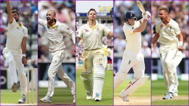 Ashes 2019 2nd Test, Key Players: Steve Smith, Mitchell Starc, Stuart Broad & Other Cricketers to Watch Out for in England vs Australia Match at Lord's