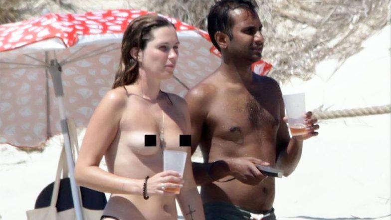 Camila Cabello and Shawn Mendes Have Competition! Topless Aziz Ansari and Serena Campbell Take a PDA-Packed Stroll by the Ocean in Spain