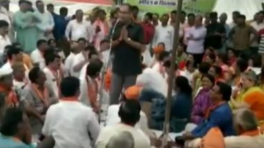 Jaipur: BJP MLA Ashok Lahoty Caught on Video Making Offensive Remark Against Party's Woman Leader in Public Rally
