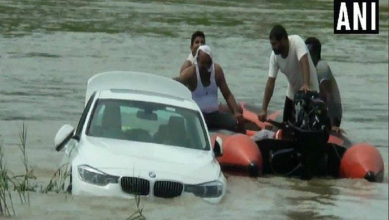 Haryana: Youth Dumps BMW Car in Canal After Parents Denied Buying Him Jaguar Car