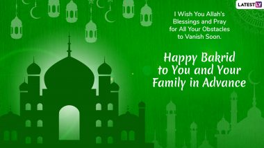 Bakrid 2019 Wishes in Advance: Eid Al-Adha Mubarak WhatsApp Sticker Messages, GIF Image Greetings, Status, Shayari, Quotes and SMS to Send on Bakra Eid