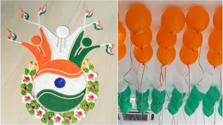 Independence Day 2019 Office Bay Decoration Ideas: Tri-Colour Rangoli to Balloons, 5 Ways to Decorate Your Workplace on 15th August