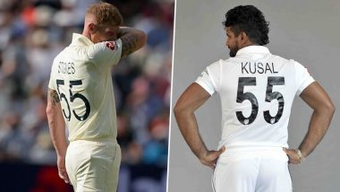 Ben Stokes and Kusal Perera's Test Jersey Numbers Are Same and So Are Their Batting Performances For 10-Wicket Partnership!