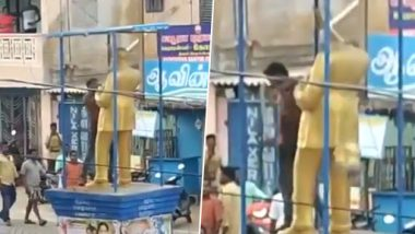 BR Ambedkar Statue Vandalised in Nagapattinam in Tamil Nadu Following Clashes Between Two Groups; Administration Re-Installs Structure