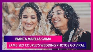 Bianca-Saima, A Lesbian Couple With Indian & Pakistan Roots Tie The Knot In U.S., Photos Go Viral