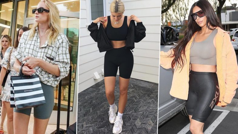 Biker Shorts Are Overstaying Their Visit! From Sophie Turner to Kylie Jenner, Celebs Who Are Obsessed with This Hideous Trend