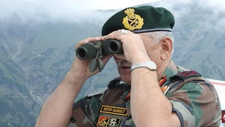 Indian Army Chief Bipin Rawat Reviews Security on LoC in Jammu and Kashmir