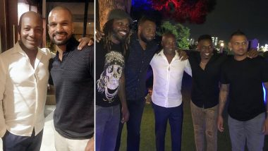Shikhar Dhawan, Chris Gayle, Rohit Sharma and Others Enjoy Dinner Party Hosted by Brian Lara Ahead of IND vs WI 1st Test 2019 (View Pics)