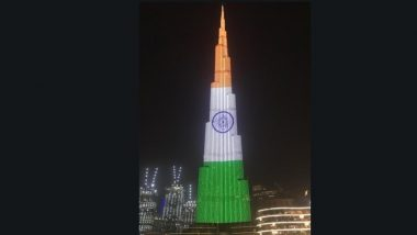 Burj Khalifa Illuminated with Indian Tricolour on India's 71st Republic Day