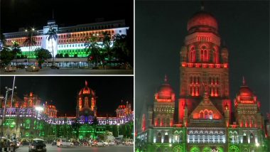 Independence Day 2019: Mumbai's Iconic CSMT, BMC Headquarters And Mantralaya Illuminated in Tricolour Lights; See Pics