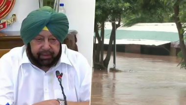 Punjab Floods: Amarinder Singh Announces Rs 100 Crore For Relief Operations, Orders Administration to Expedite Rehabilitation Measures