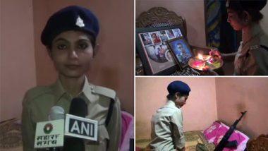 Chhattisgarh: Constable Kavita Kaushal Ties Rakhi on Martyr Brother Rakesh Kaushal's Gun, Calls Naxals 'Coward'