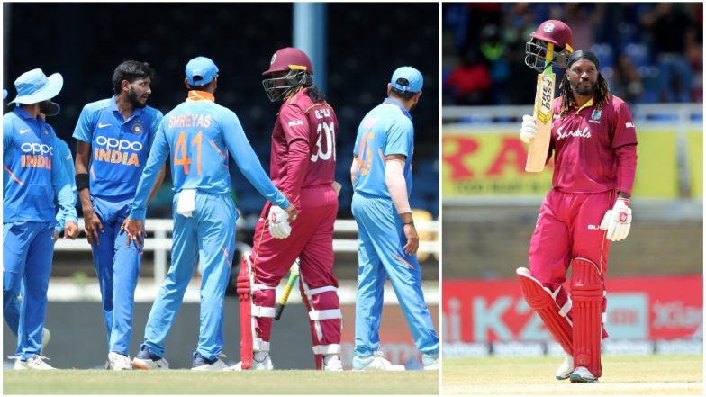 Was This Chris Gayle's Last ODI? Virat Kohli and Teammates Congratulate 'Universe Boss' As He Walkes off Following an Entertaining Knock during IND vs WI 3rd ODI Match (Watch Video)