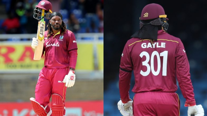 Chris Gayle Signs Off in Style: Twitter Bows Down to Universe Boss after His Possibly Final ODI Innings during IND vs WI 3rd Match