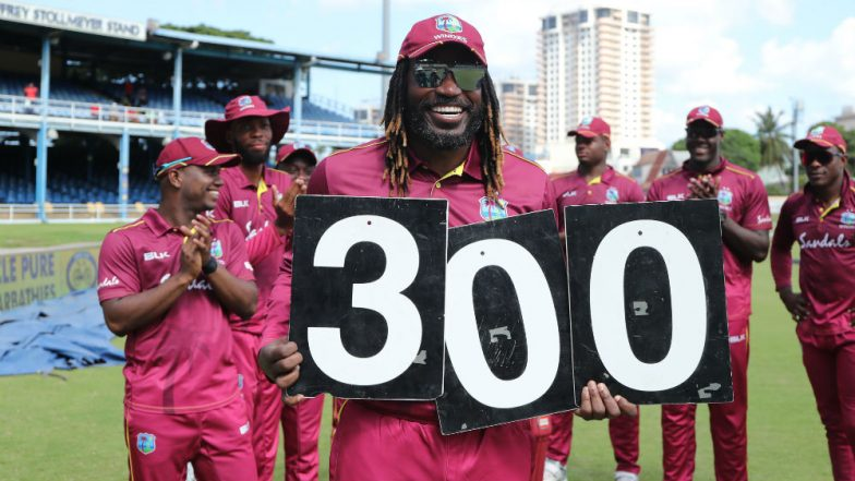 Chris Gayle Becomes 1st West Indies Player to Feature in 300 ODIs During IND vs WI 2nd Match at Trinidad; Check 'Universe Boss' Record in 50 Overs Cricket