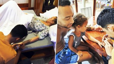 Chrissy Teigen and Family Get Henna Tattoos but Baby Luna Steals the Show