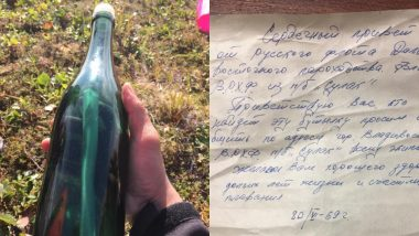 Cold War Russian Sailor's 50-Year-Old Letter Found in Alcohol Bottle on Alaskan Shore! (See Pictures)