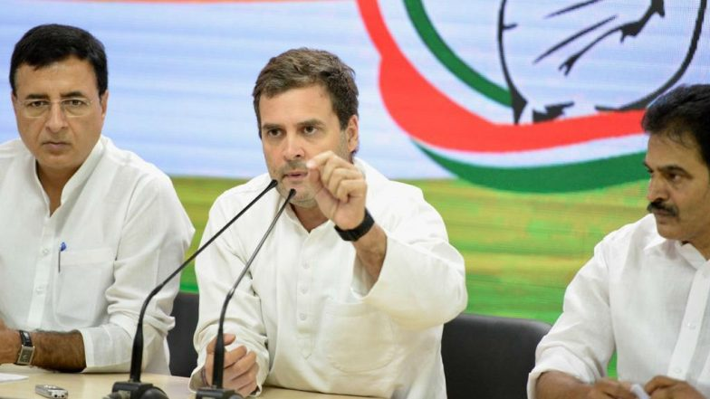 Rahul Gandhi to Visit Jammu and Kashmir With Opposition Leaders on August 24, Congress Leader's First Visit to UT After Abrogation of Article 370