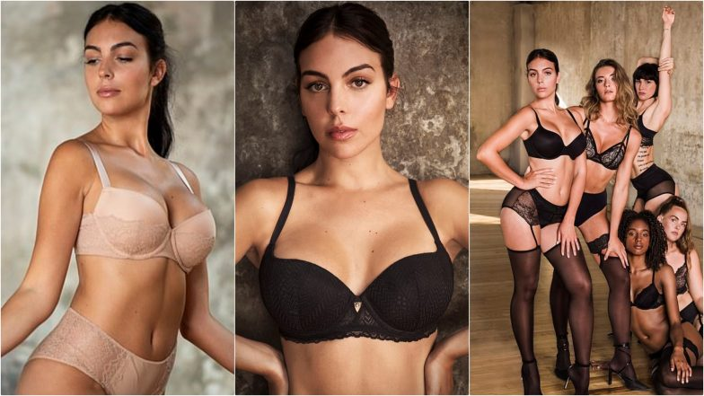 Cristiano Ronaldo's Hot Girlfriend Georgina Rodríguez Strips Down to Sexy Lingerie for Raunchy Ad Campaign (Watch Video)