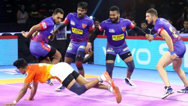 Dabang Delhi vs UP Yoddha PKL 2019 Match Free Live Streaming and Telecast Details: Watch DD vs UP VIVO Pro Kabaddi League Season 7 Clash Online on Hotstar and Star Sports