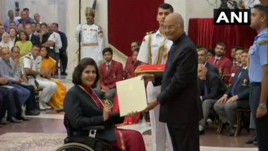 National Sports Award 2019: Deepa Malik Receives Khel Ratna, Bajrang Punia & Ravindra Jadeja Miss Awards Ceremony