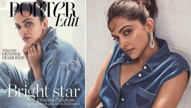 Deepika Padukone Looks Ravishing as She Rocks Denim and Diamonds on Porter Magazine Cover (View Inside Pics)