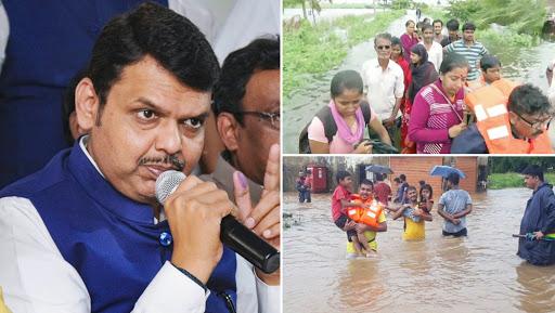 Maharashtra Floods: CM Devendra Fadnavis Announces Rs 6,813 Crore as Relief Package for Affected Regions